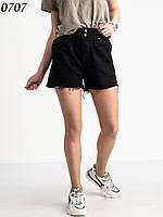 Джинсові шорти жіночі New Jeans чорні котонові №0707 26