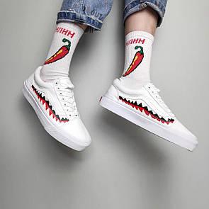 "Женские кеды Vans х BAPE Old Skool ""Shark"" , белая"