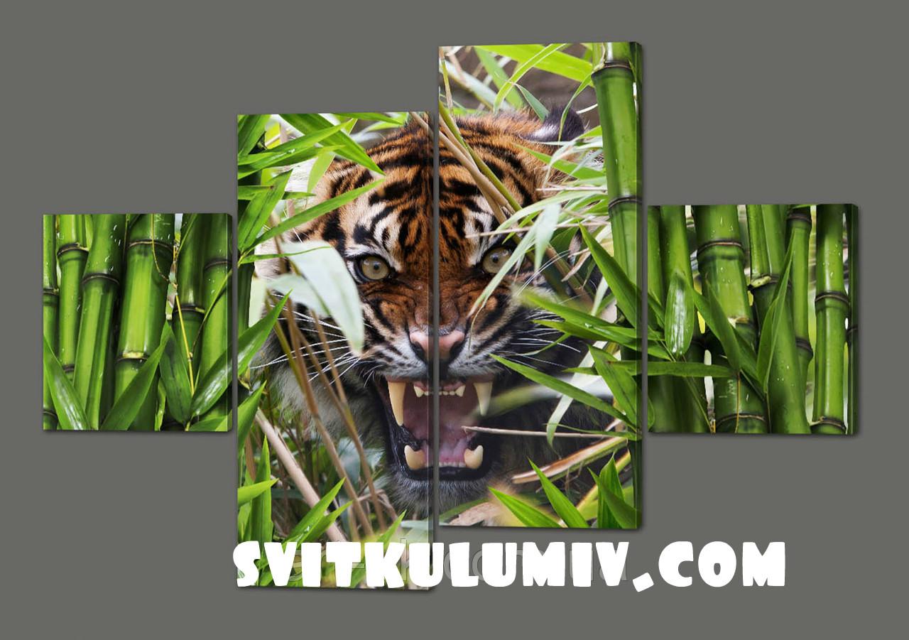 Сегментная картина Хищник 160*114 см