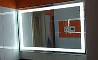 Ультратонкое зеркало 1000*800 мм с подсветкой в алюминиевой раме