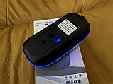 Беспроводная мышь, Bluetooth + USB Wireless, с подсветкой, бесшумная, с аккумулятором, блютуз мышка, фото 3