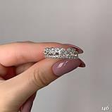 Кільце Срібло 925 проби з фіанітами Розміри 14-21, фото 3