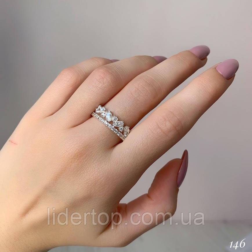 Кольцо Серебро 925 пробы с фианитами Размеры 14-21
