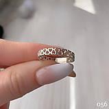 Кольцо Сердечки Серебро 925 пробы Размеры 14-21, фото 2