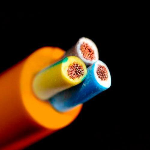 Кабель ПВС нг 3х1,5 мм² СКЗ оранжевый (100% ГОСТ) медь СЕРТИФИКАТ