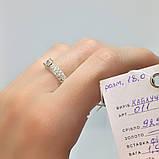 Кільце Срібло 925 проби з фіанітами Розміри 14-21, фото 2