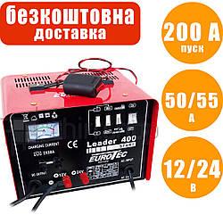 Пуско-зарядное 200 А, для автомобильного аккумулятора, быстрая зарядка Boost, 12/24 В, 50/55 А, Eurotec EW 215