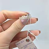 Комплект Набор Серьги+Кольцо Серебро 925 пробы с фианитами + пластины Золота 375 пробы Размеры 14-21, фото 2