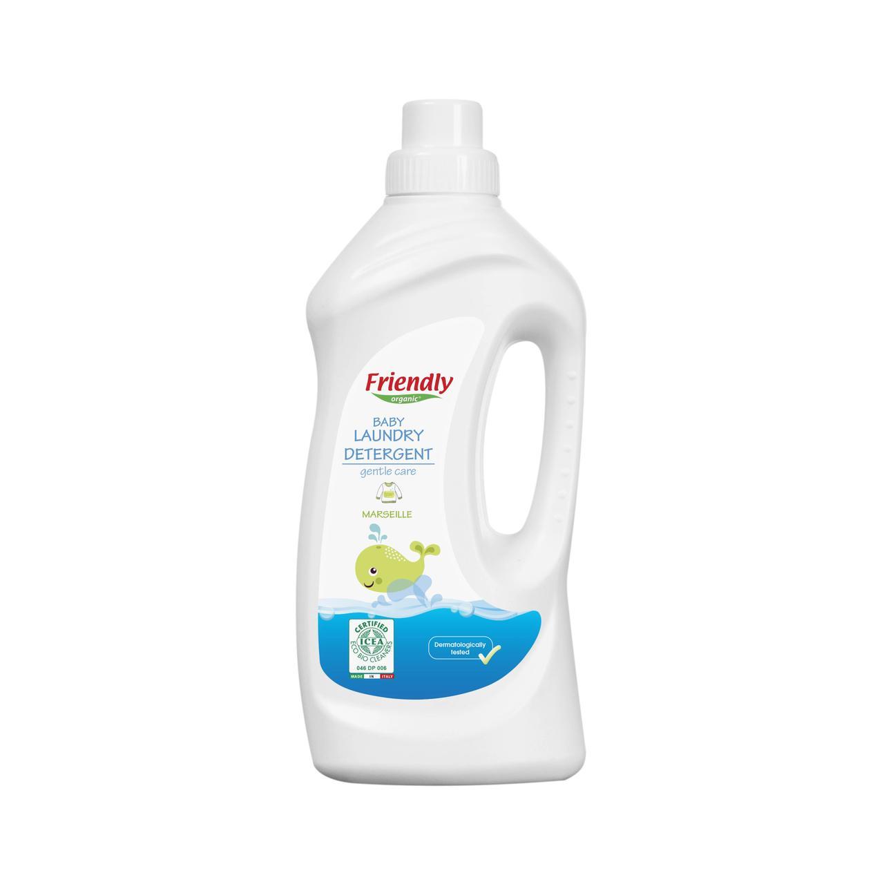 Органічний рідкий пральний порошок Friendly organic марсельское мило 1000 мл (20 прань)