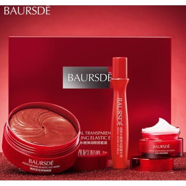 Антивіковий набір для догляду за шкірою навколо очей Baursde з екстрактами морських червоних водоростей, листя