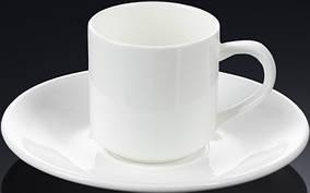 Чашка кавова з блюдцем 90 мл. WILMAX WL-993007