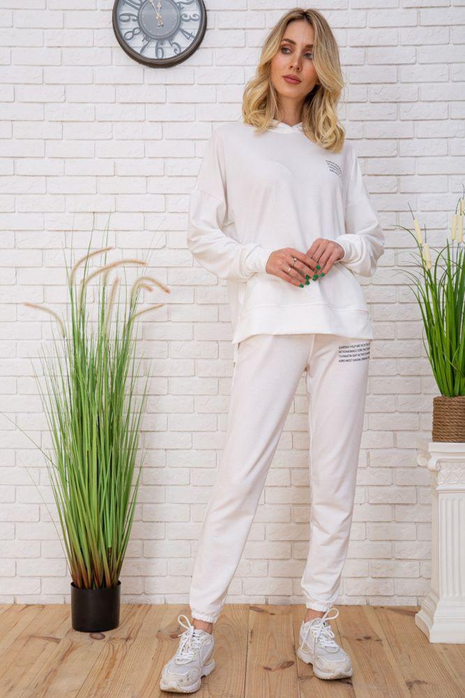 Спорт костюм жен. 129R15115 цвет Молочный
