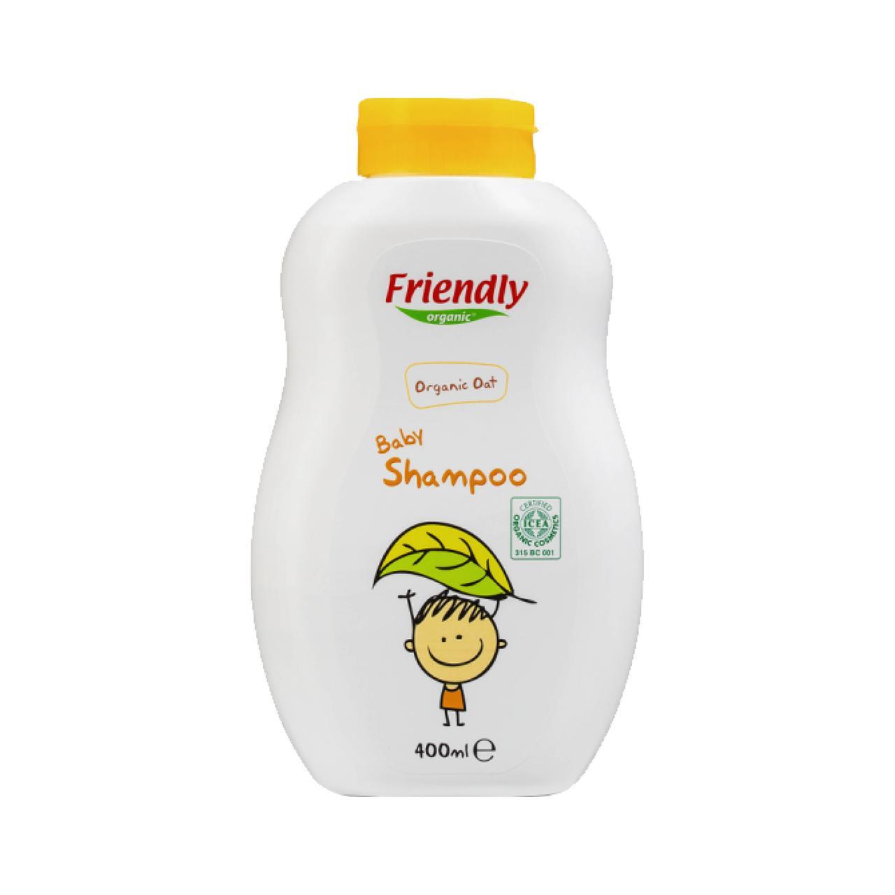 Органічний дитячий шампунь-гель Friendly Organic з екстрактом вівса 400 мл