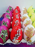 Свічка пасхальна у формі Яйця декорована, 7 см, 30шт/ящ
