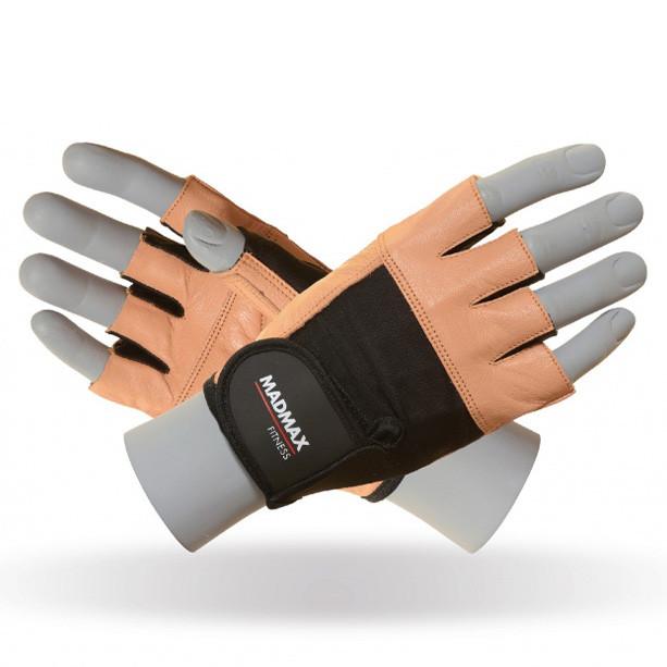 Экипировка Перчатки MAD MAX Fitness, коричневые - MFG 444 S