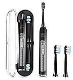 УЛЬТРАЗВУКОВА ЗУБНА ЩІТКА MEDICA+ PROBRUSH 9.0 (ULTASONIC) BLACK для якісної чистки зубів, фото 2