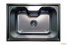 Мойка 6043, врезная 600х430х180 Сатин 0,8 см (с отверстием под смеситель) Platinum