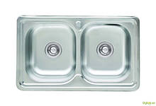 Мийка 7848D, врізна Прямокутна 780х480х180 Сатин 0,8 см (з отвором під змішувач) Platinum