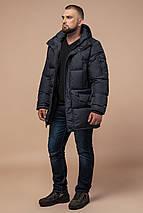 Стильна куртка чоловіча зимова графітова модель 27055, фото 3