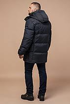 Стильна куртка чоловіча зимова графітова модель 27055, фото 2