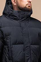 Стильная куртка мужская зимняя графитовая модель 27055, фото 3
