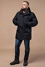 Трендовая мужская зимняя куртка чёрная модель 27055, фото 3