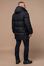 Трендова чоловіча зимова куртка чорна модель 27055, фото 2