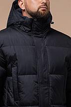 Трендова чоловіча зимова куртка чорна модель 27055, фото 3