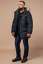 Брендовий чоловічий куртка графітова зимова модель 10055, фото 2
