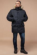Брендовая мужская куртка графитовая зимняя модель 10055, фото 3