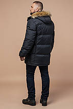 Брендовая мужская куртка графитовая зимняя модель 10055, фото 2