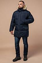 Куртка практична зимова чоловіча колір темно-синій модель 10055, фото 2
