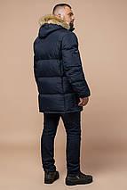 Куртка практична зимова чоловіча колір темно-синій модель 10055, фото 3