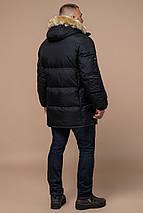 Комфортна чоловіча зимова куртка чорна модель 10055, фото 3