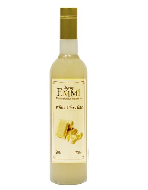 Сироп Еммі White chocolate 700 мл (900 грам) (Syrup Emmi White chocolate 0.7)