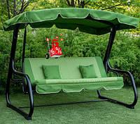 Садовые подвесные раскладные трехместные качели с навесом Корса 170 для отдыха, качели для дачи, диван-качели