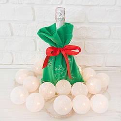 Мешок под шампанское и конфеты Zolushka 29см зелёный (ZL1372)