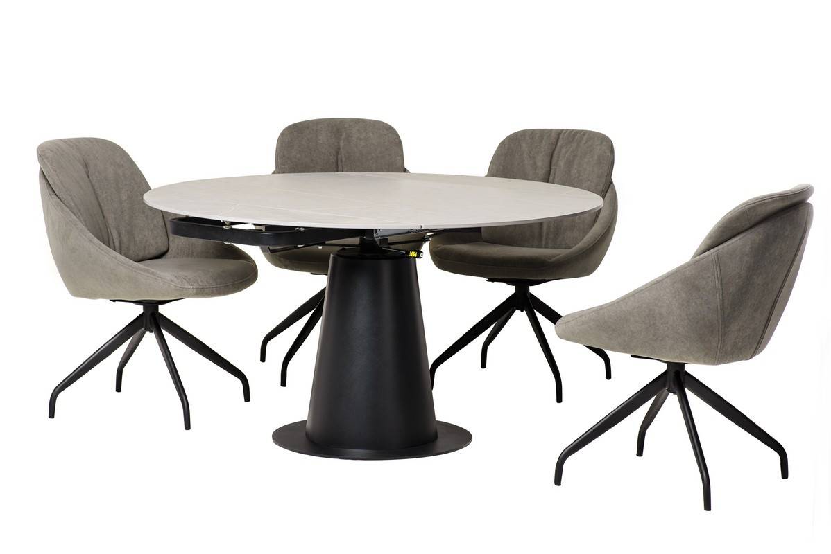 Керамічний стіл TML-831 грей стоун+чорний
