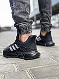 Кроссовки мужские 18614, Adidas x Pharrell Vento  (TOP), черные [ 41 42 43 44 45 ] р.(41-26,5см), фото 3