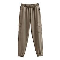 Брюки-джоггеры женские трикотажные с накладными карманами Forest Berni Fashion (S)