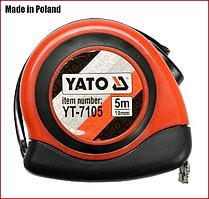 Рулетка  5  м 19 мм, магнитная с нейлон покрытием Yato YT-7105