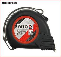 Рулетка 3 м x 16 мм, магнитная, нейлон покрытие Yato YT-7110