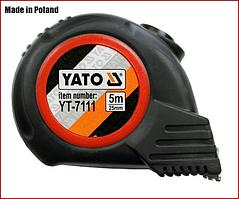 Рулетка 5 м x 25 мм, магнитная, нейлон покрытие Yato YT-7111
