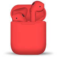 Бездротові сенсорні навушники TWS i12 Red