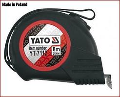 Рулетка 8 м x 25 мм, магнитная, нейлон покрытие Yato YT-7112
