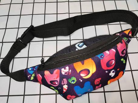 (45грн-65грн)Принт тканина сумка на пояс(тільки ОПТ)