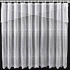 Тюль штора на кухню Белая с белым ламбрекеном 165*295 код тж-5