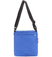 Сумка-планшет женская стёганая POOLPARTY Eco синяя, фото 1