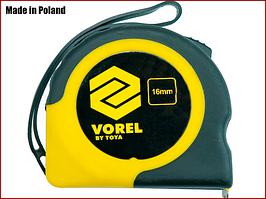 Рулетка вимірювальна 2 м x 16 мм Vorel 10101