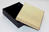 Коробка подарочная черная с золотом 6.5x7.5x2 см, фото 1